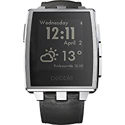 New Shop New! Pebble Steel Smart Watch for Select Apple iOS and Android Devices - Silver