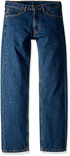 Levi's Men's 505 Regular Fit Jean, Dark Stonewash, 34x32 by Levi's