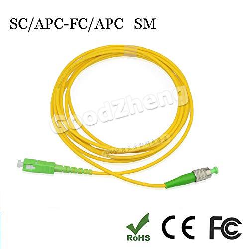 Connectors SC/APC-FC/APC SIMPLEX 9/125 Fiber Patch Cord Jumper Cable Patch Cord sc fc APC, Singlemode 3M/5M/10M/15M/20M/30M/50M/80M/100M - (Cable Length: 50M) by ShineBear