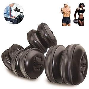 Weights Dumbbells Set Adjustable Water Filled,Travel Dumbbell Equipment/Adjustable Weight up to 45lbs/Portable 1KG(2.2lb…