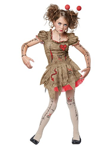 California Costumes Voodoo Dolly Costume, Tan/Red, -