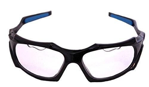 Python Full Framed (Clear Lense/Black Frame) Racquetball Eye Protection (Pickleball, Squash) (Eyewear, Goggle, Eyeguard)