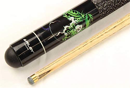 Taco de billar negro con diseño de dragón y bola 8, 2 piezas ...