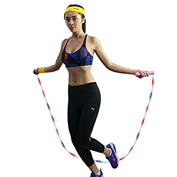 Amazon irealist 3 mode multi color flashing jump rope light up irealist 3 mode multi color flashing jump rope light up skipping rope pink aloadofball Choice Image