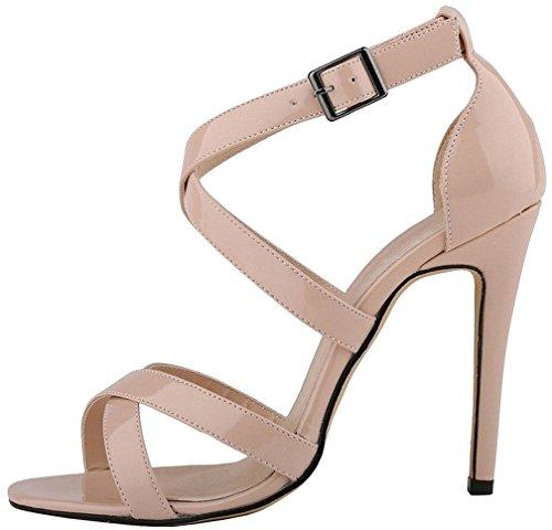Mujer Zapatos De Sintético 12cm Aguja Hebilla Calaier Vestir Camountain Tacón B Sandalias Beige qdw1vBTH
