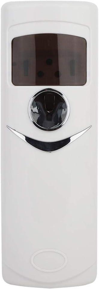 ViaGasaFamido Plástico Ambientador Dispensador Eléctrico Automático Sin Aerosol Aroma Más Fresco Difusor Pantalla Montada En La Pantalla LCD Kit De Pulverización para Inodoros Cocina Y áreas Públicas