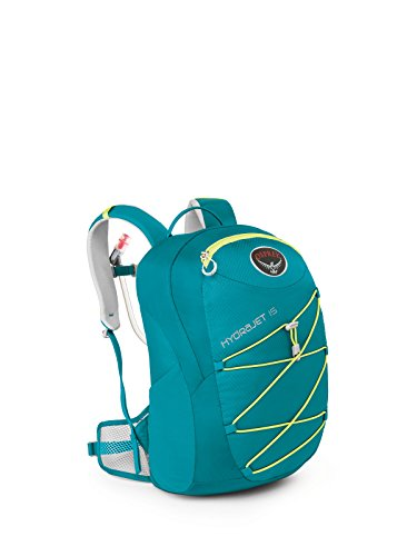 Osprey Packs Kid's HydraJet Hydration Pack, Real Teal, 15 L