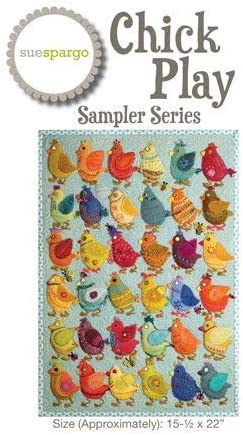 Wool Applique Project Chick Play Sampler Series Pattern and Template Set by Sue Spargo 15.5 x 22