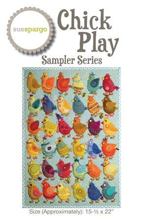 (Sampler Series Pattern and Template Set by Sue Spargo - Wool Applique Project ''Chick Play'' (15.5