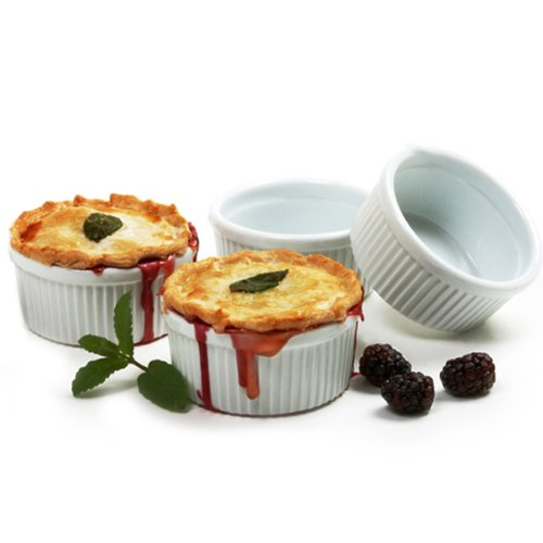 Norpro 8oz/240ml Porcelain Ramekins, Set of - 4 Set Piece Ramekin