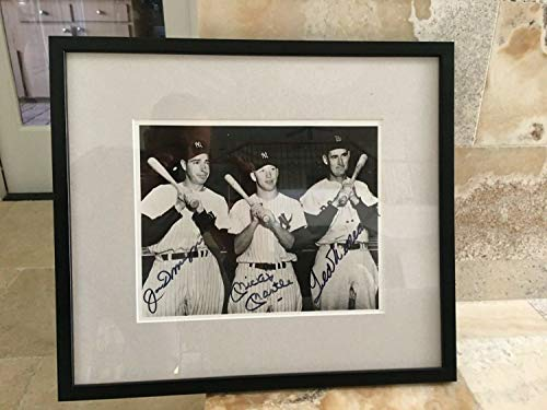 Mickey Mantle Joe Dimaggio & Ted Williams Autographed Signed 8X 10 Photo PSA/Loa - Authentic Memorabilia