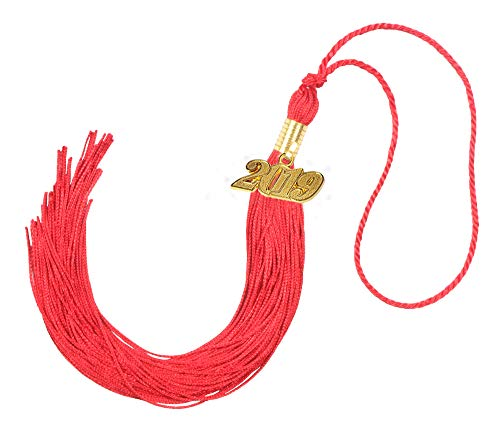 GraduationForYou Academic Graduation Tassel With 2019 Year Charm , Available For 2019 Graduation Ceremony -
