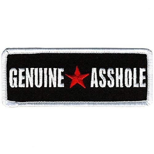 Hot Leathers, GENUINE ASSHOLE, Iron-On / Saw-On Rayon PATCH - 4