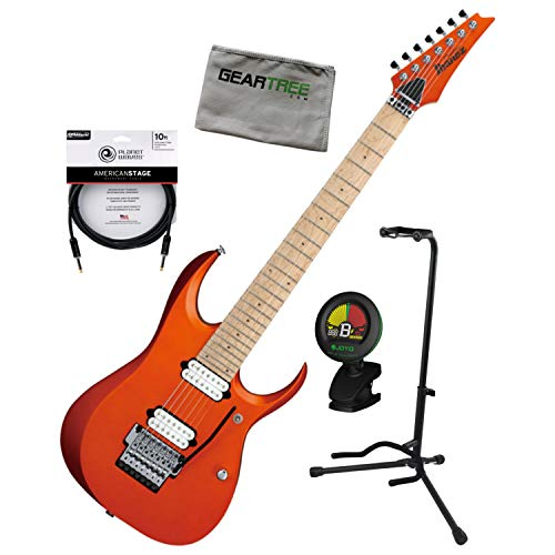Prestige 7 String - Ibanez RGD3127 ROF Prestige 7-String Roadster Orange Guitar w/Tuner, Cable, Sta