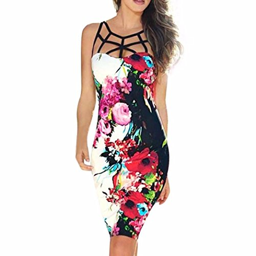 - Lady Dress, Misaky Bandage Bodycon Evening Party Cocktail Short Mini Dress (S, Red)