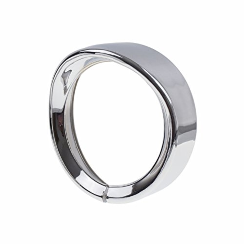 Headlamp Headlight Trim Ring 7 inch For Harley Motorcycle Touring Road King Electra (Chrome Headlight Trim Rings)