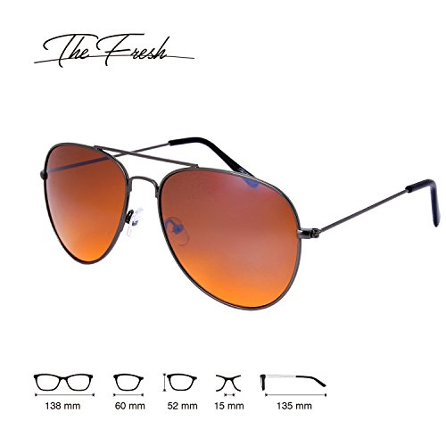 The Fresh HD High Definition Vision Driving Golf Classic Large Metal Frame Blue Blocker Lens Aviator Sunglasses with Gift Box by The Fresh (Image #1)