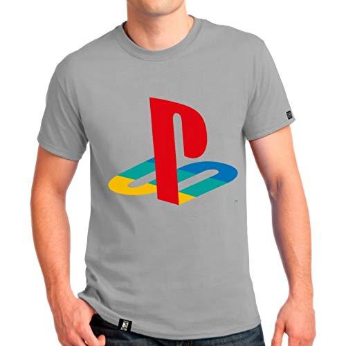 Camiseta Playstation Classic Mas/ Cor Cinza / P   Banana Geek Cinza