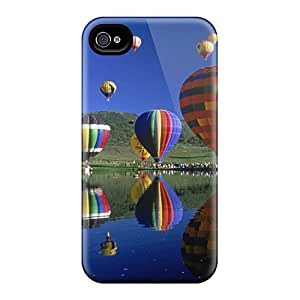 Iphone 4/4s Lsp7004QCTM Balloons Tpu Silicone Gel Case Cover. Fits Iphone 4/4s