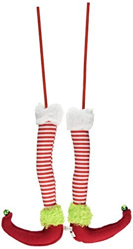 red white green elf legs a pair 125 long christmas - Elf Legs Christmas Decoration
