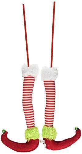 red white green elf legs a pair 125 long christmas - Elf Legs Christmas Decoration