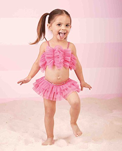 Mud Pie Ruffled Mesh Bikini (2T)