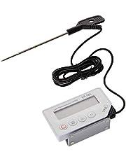TFA Dostmann LT-101 professionele digitale thermometer, met insteeksensor, optisch en akoestisch alarm, afwasbaar, ideaal voor professioneel gebruik