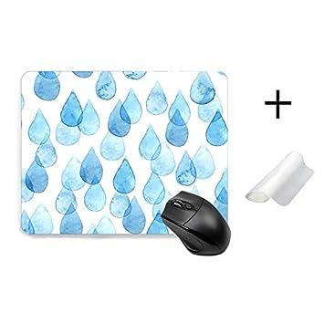 Amazon マウスパッド かわいい 雨だれ 雨柄 萌え ブルー おしゃれ 人気