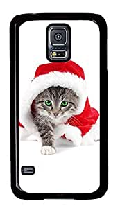 Samsung Galaxy S5 Beautiful Christmas Kittens PC Custom Samsung Galaxy S5 Case Cover Black