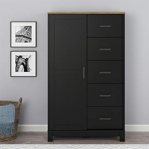 Ameriwood Home Carver Gentleman's Chest, Black (Dresser Chest Gentleman's)
