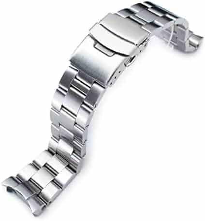 22mm Super-O Boyer Watch Bracelet for Seiko SKX007 SKX009 Brushed 316L SS