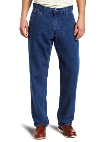 Heavyweight Cotton Denim Work Jeans - Key Apparel Men's Big-Tall Heavyweight Relaxed Fit Enzyme Wash Jean, Denim, 44x32