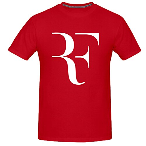 Used, Vi-Fi Men's Roger RF Tennis Fans T-Shirt (Red X-Large) for sale  Delivered anywhere in Canada