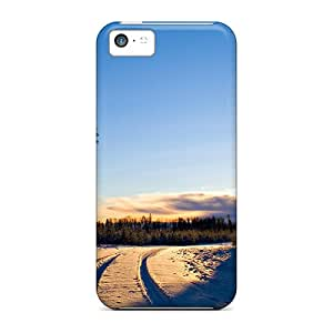Iphone 5c Cases Slim [ultra Fit] Forest Path In Winter Protective Cases Covers
