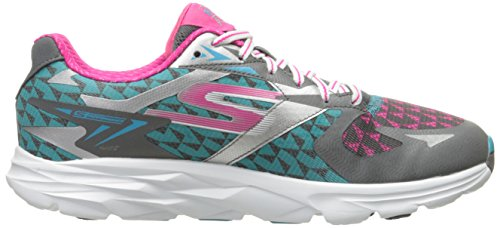 Skechers Performance Mujeres Go Run Ride 5 Zapatillas De Running Con Carbón / Azul