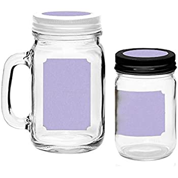 amazon com 40 printable blank mason jar and lid labels kraft for