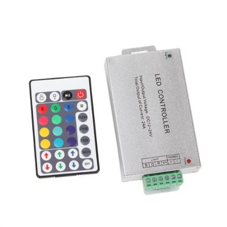 DN 24A IR Remote Control Controller 28 Keys Infrared Controller Brightness Adjustable for LED Strip With Aluminium Alloy Control Box