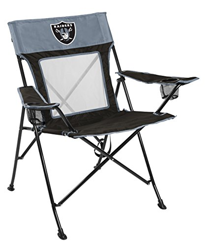 (NFL Oakland Raiders Unisex LP0065NFL Game Changer Chair, Black, Adult)