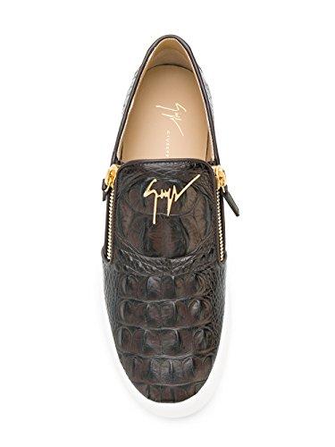 Giuseppe Zanotti Design Homme RU70005016 Marron Cuir Chaussures de Skate
