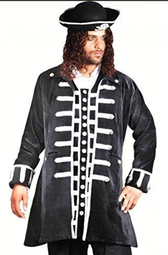Captain La Sage Piraten Mantel - Black, Grösse:L