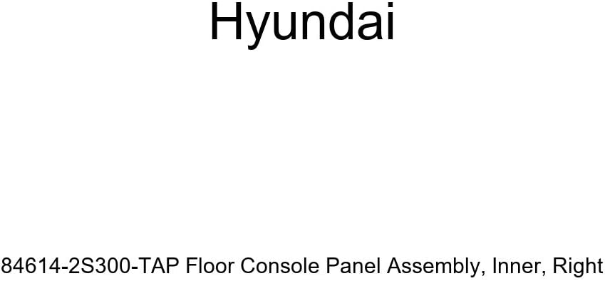 Right Genuine Hyundai 84614-2S300-TAP Floor Console Panel Assembly Inner