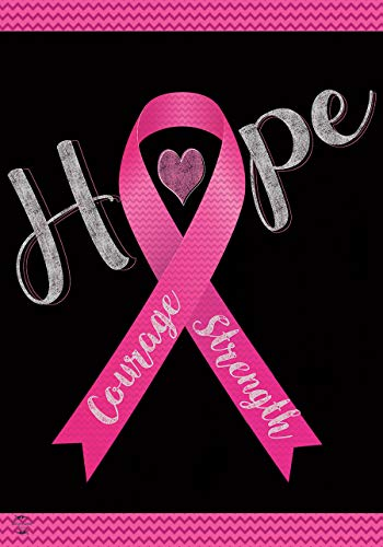 Briarwood Lane Hope, Courage, Strength Garden Flag Breast Cancer Pink Ribbon 12.5