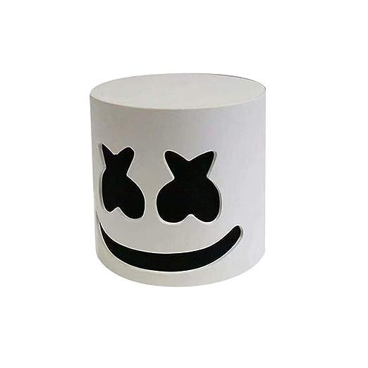 Candora - Máscara de Halloween para cosplay, diseño de Marshmello DJ; máscara de cabeza completa