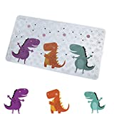 Non-Slip Bath Mat Bathtub and Shower Mat for Baby Kid's,Anti-Bacterial,Machine Washable,Large Toddler Rubber Anti Non Skid Bath Matts Fits Any Size Bath Tub,16inchx27inch