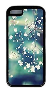 The Beauty Of The Flowers Lovely Mobile Phone Protection Shell For iPhone 5c Cases - Unique Cool Black Soft Edge Case