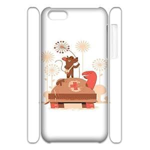 3D IPhone 5C Cases Funny 107, Fun [White]