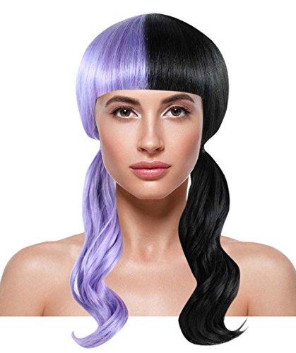 American Singer Wavy Wig, Purple/Black Adult HW-1075 ()