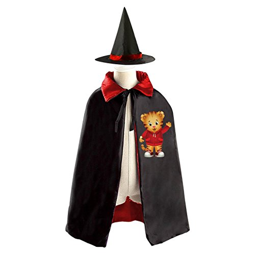 DIY Daniel Tiger's Neighborhood Daniel Tiger Costumes Party Dress Up Cape Reversible with Wizard Witch Hat (Jack Daniels Costume Diy)