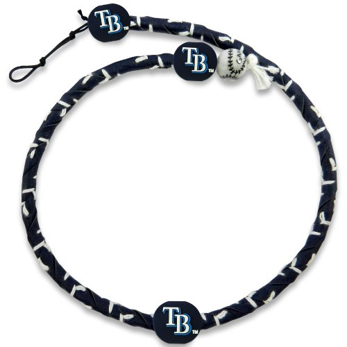 MLB Tampa Bay Rays Team Color Frozen Rope Baseball Necklace - Tampa Bay Devil Rays Team Colors