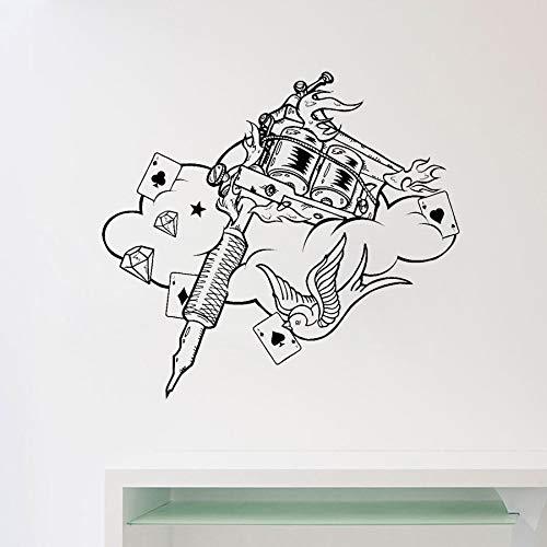 zhuziji Tattoo Machine Tatuajes de Pared Tattoo Studio Poster ...